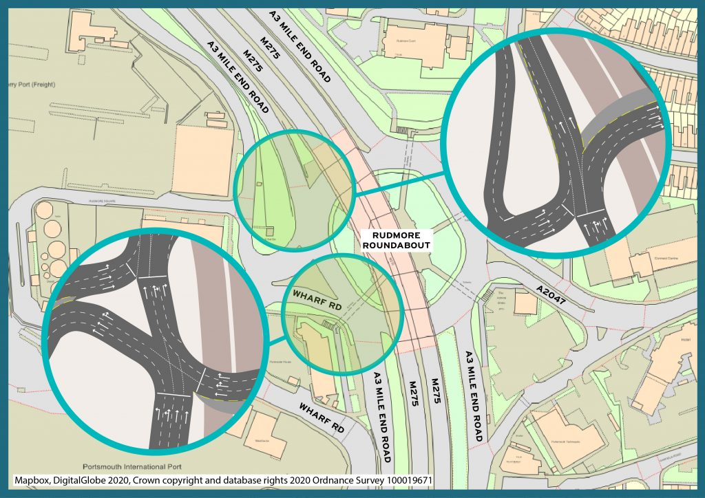 Rudmore roundabout proposal