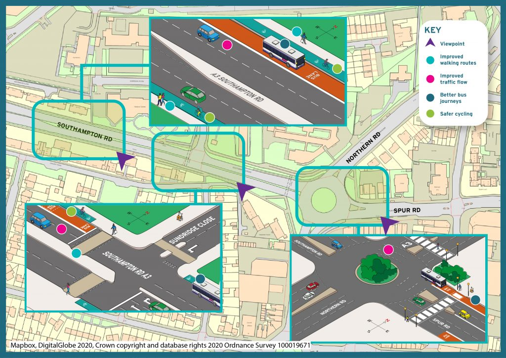 Proposal for Spur Road roundabout
